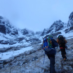 marche d'approche vers number three gully au ben nevis