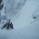alpinisme hivernal dans number 3 gully