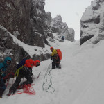 alpinisme hivernal facile au ben nevis, le Douglas Gap West Gully